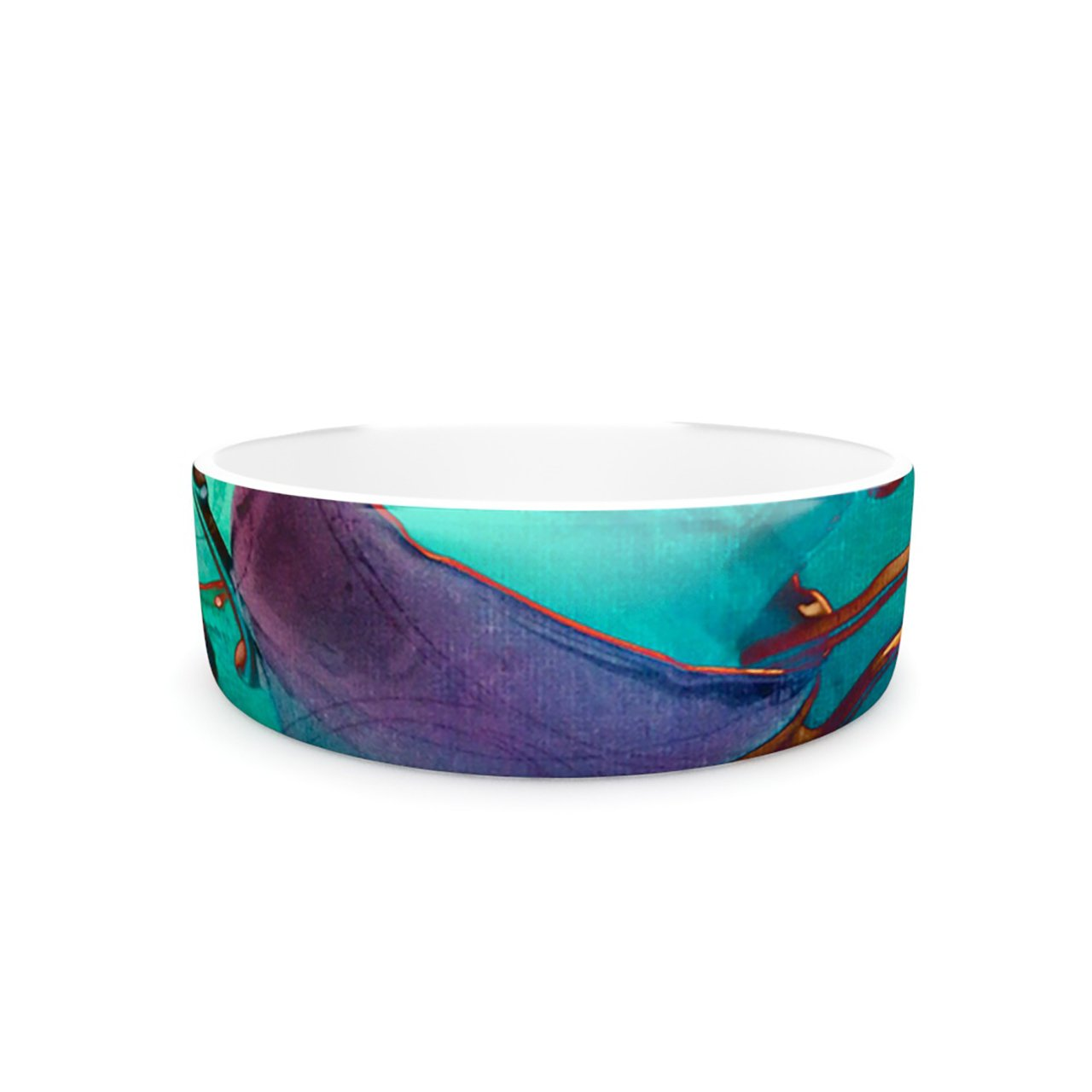 Kess InHouse alyZen Moonshadow Mad Hatters T-Party I  Pet Bowl, 7-Inch, Turquoise