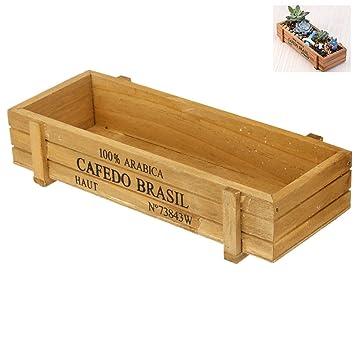 Vintage Wooden Planter Box Small Soild Handmade Garden Home Indoor
