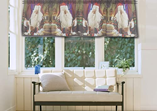 Dune Microsuede Striped Window Tan Window Valance , Striped-Rod Pocket Valances for Windows , 50X18 , Beige Brown