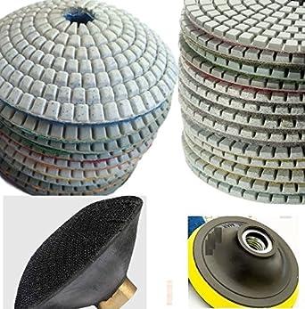 """4/"""" Diamond Polishing 8+1 Pad and 4/"""" Convex Polishing 7+1 Pad granite concrete"""