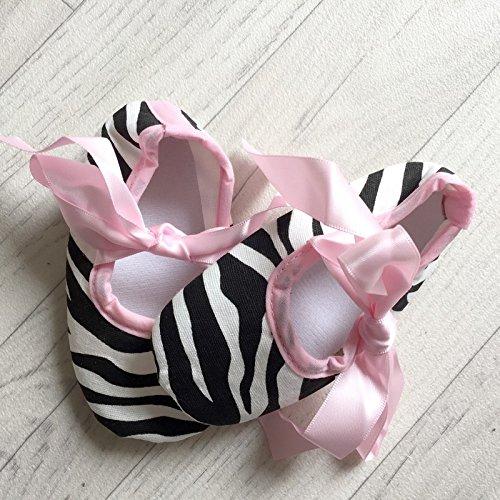 Bailarina suave bebé de 0a 12meses, Modelo CEBRA Rosa 3/6Meses, 6/9Meses, 0/3meses, 9/12Meses rosa rosa Talla:9/12 mois