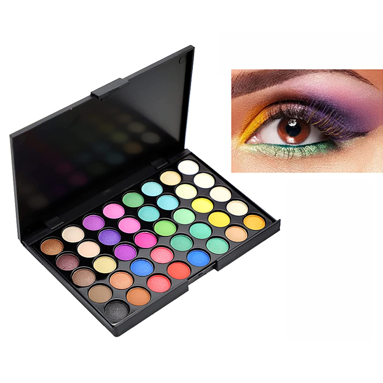 menglisi matte eyeshadow palette,purple green eyeshadow palette Waterproof Powder Natural Pigmented Nude Naked Smokey Professional Eye makeup (40 color)
