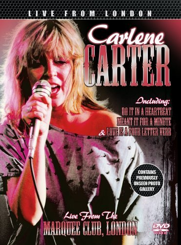 DVD : Carl Carlton - Live From The Marquee Club, London (Digipack Packaging)
