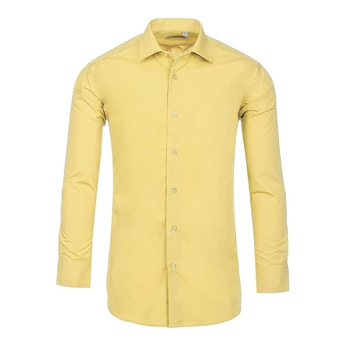 Amazon.com: Luxton Camisas de vestir para hombre, ajustadas ...