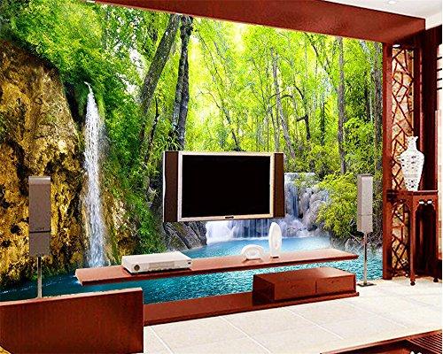 Wapel Customized Large Any 3D Wallpaper Hd Falls Scenery Live Room Tv Wall Wallpaper Paisaje Wall Paper Paper 3D Papel Tapiz Silk cloth 200x140CM