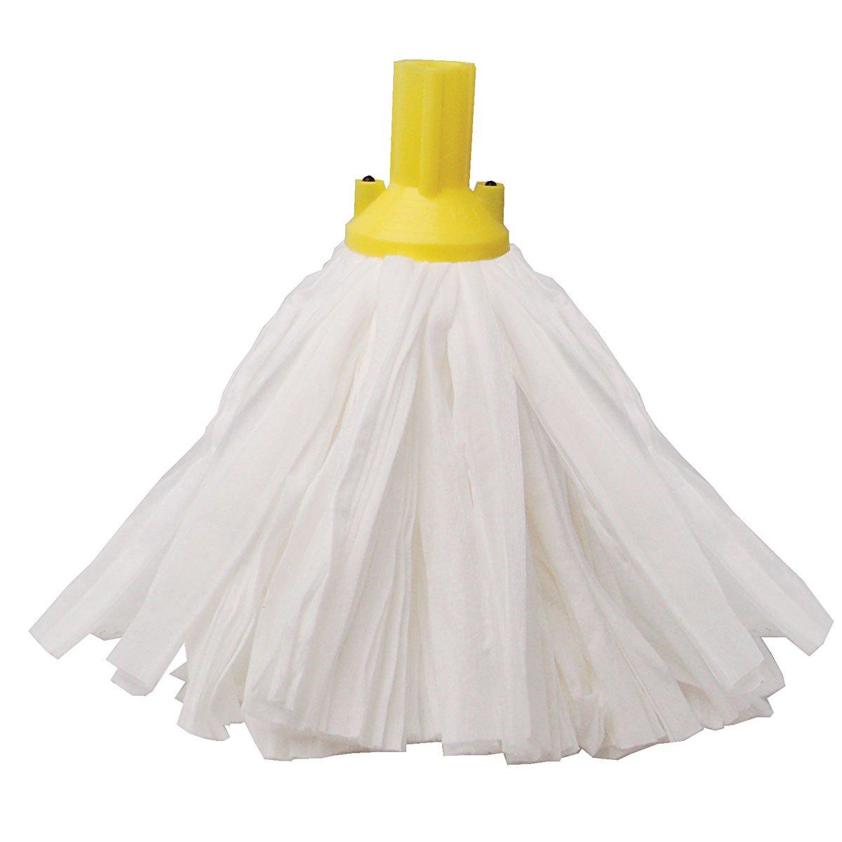 Exel Y24 Big White Socket Mops Yellow - Pack of 10 HA024-Y