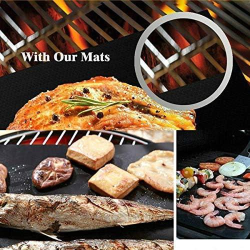 Cosye Tapis de Barbecue Barbecue Haute température antiadhésif en Fibre de Verre Tapis de Barbecue en Plein air Ensemble de Tapis de Barbecue pour Les activités de Plein air