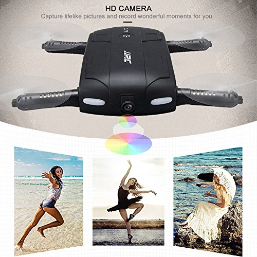Pocket Selfie Drone Quadcopter, Kingtoys Selfie 0.3MP Camera Phone Control JJRC H37 Elfie Mini Wifi FPV High Hold Mode RC Drones Quad copter RTF Helicopte