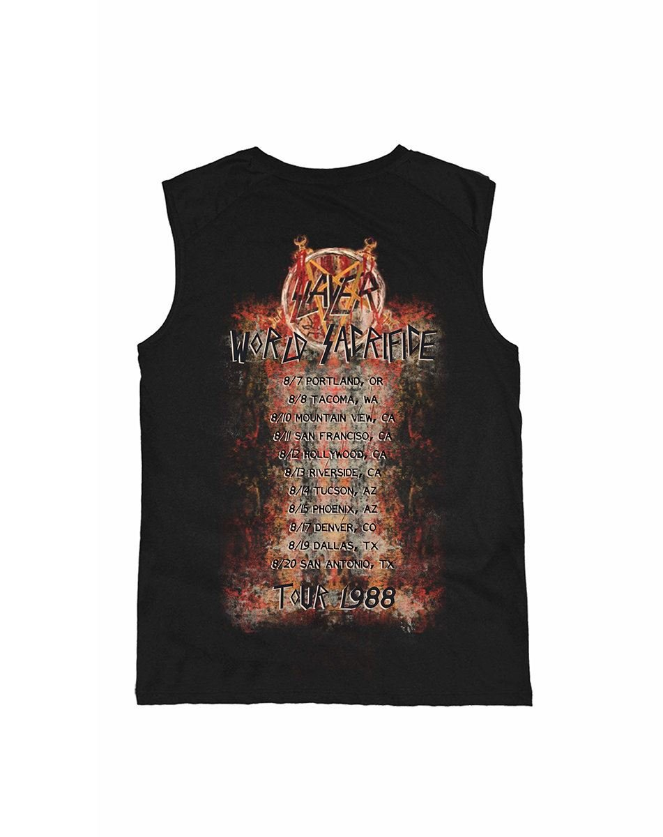 Amplified Hombres Ropa Superior/Tank Tops Slayer World Sacrifice Tour 1988 mXH0RG