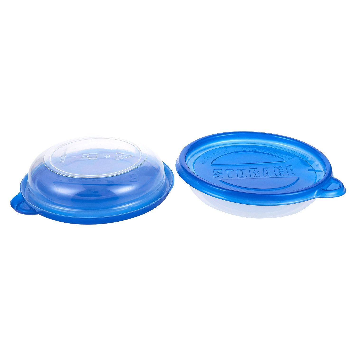 40-Pack Plastic Food Containers with Lids - Small Round Food Storage Containers, Deli Take Out Restaurant Containers, Microwave, Freezer, Dishwasher Safe, Fits 9.5 Fluid Ounces, 9.5 fl oz by Juvale (Image #7)