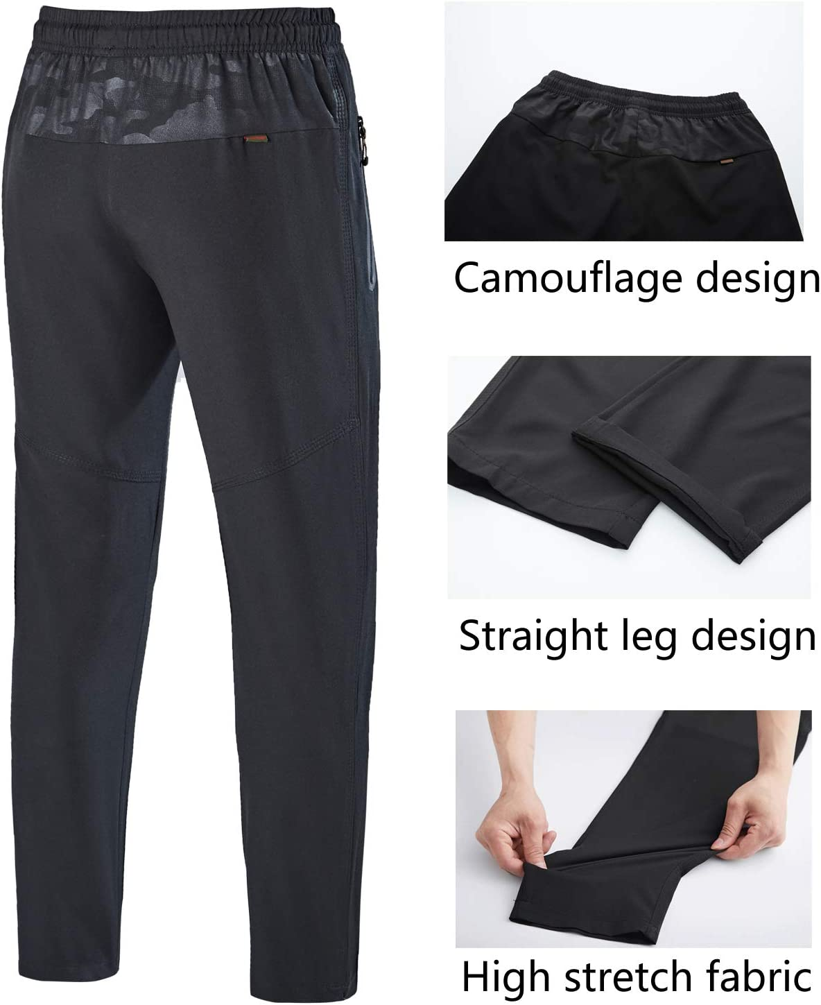donhobo Mens Hiking Trousers Lightweight Breathable Leisure Trousers Trekking Trousers Running Trousers Sports Trousers Outdoor Quick-Drying Camping Trousers