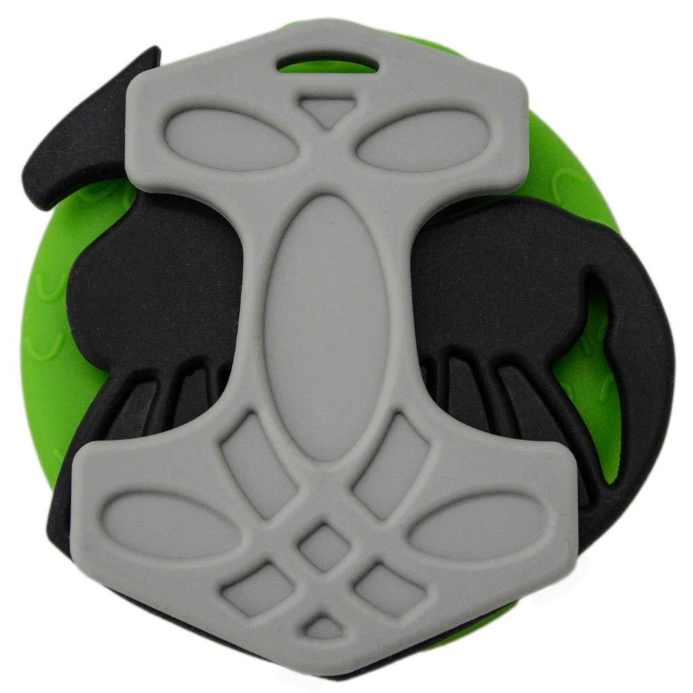 Grey//Black//Green Set of Viking Silicone Baby Teething Toys Helles Teeth