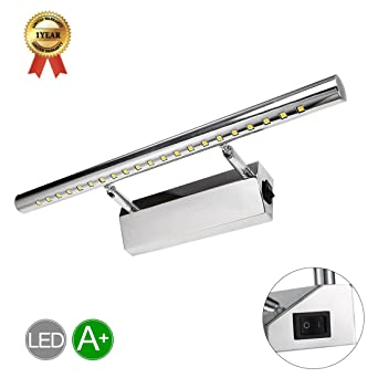 LED Spiegelleuchte Mit Schalter 5W Schrankleuchte 180° einstellbar ...