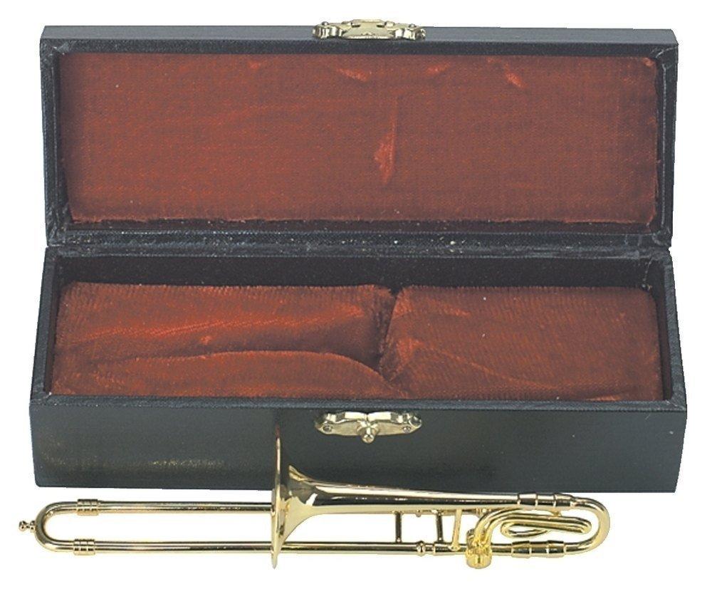 Gewa 980592 Miniature Strumento Musicale Trombone in Astuccio, 15 cm ca. 15 cm