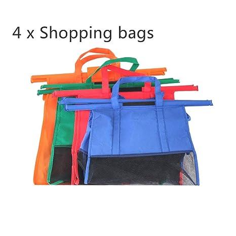 4pcs / set carrito de carro Bolsas reutilizable plegable ...