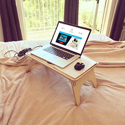 Standing Desk / Wavy Sit-Stand Table / Laptop table / Bed desk / Laptop holder by DeskStand