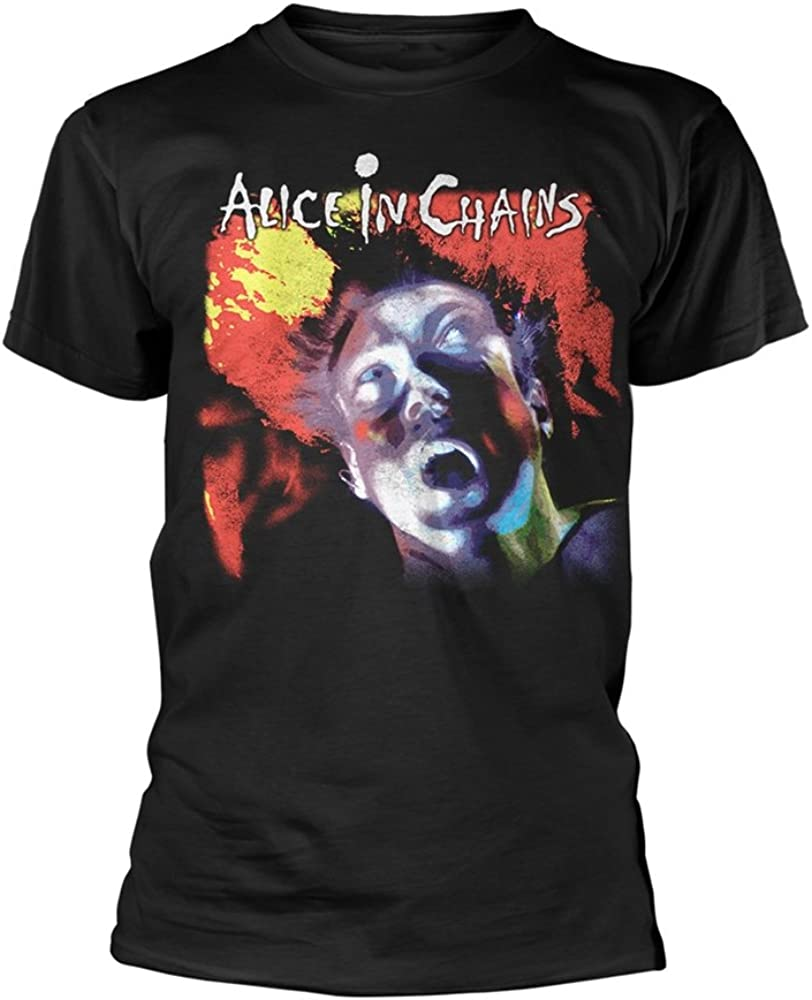 Alice in Chains Facelift Layne Staley Grunge Official Tee T-Shirt Mens Unisex