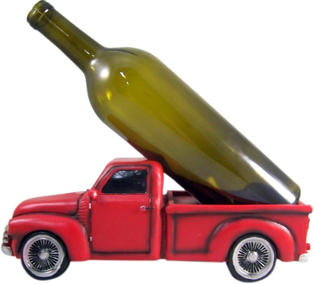 "DWK ""Happy Hour Hauler"" Truck Wine Bottle Holder   Countertop Wine Rack   Bar Décor   Wine Accessories   Kitchen Décor   Wine Storage   Wine Bar   Kitchen Accessories"