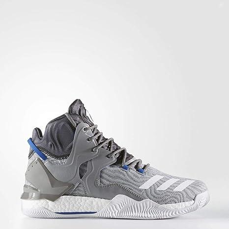 check out 96947 a8b65 adidas D Rose 7, Scarpe da Basket Uomo, Grigio (GrpuchFtwbla
