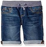 VIGOSS Girls' Knit Waist Bermuda Short, Teal Blue/True Blue,12