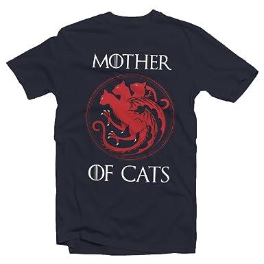 Tees In The Hood Camiseta para Madre de Gatos – Thrones Humour Divertido Gatos Gatitos – Holgado Ajuste y tamaños