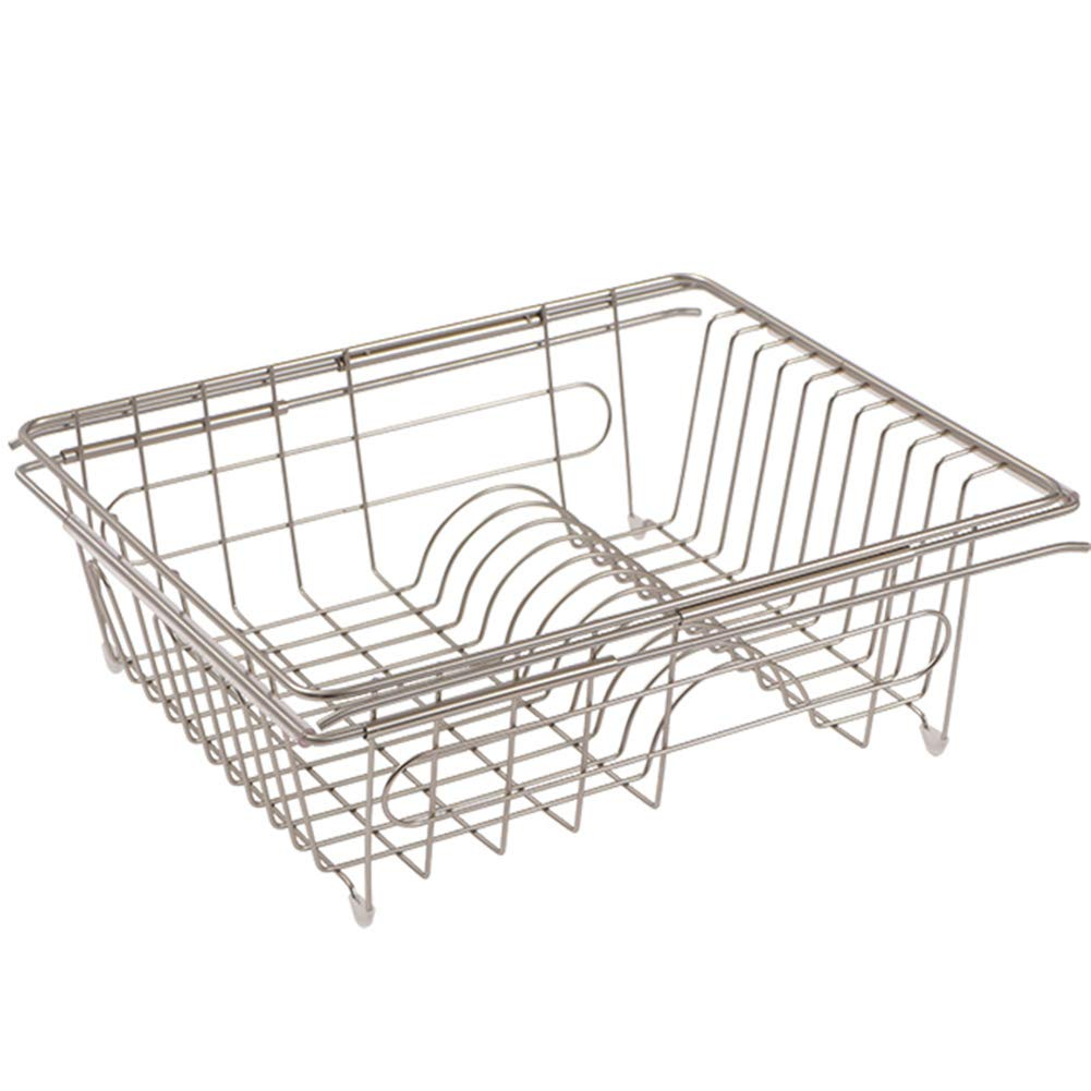 Shelf Storage Racks Pot Rack Storage Basket Shelf Baskets Under Sink Storage Kitchen Dish Rack Drain Basket Telescopic Easy to Clean Cupboard Organizers ZHAOYONGLI by ZHAOYONGLI-shounajia (Image #1)
