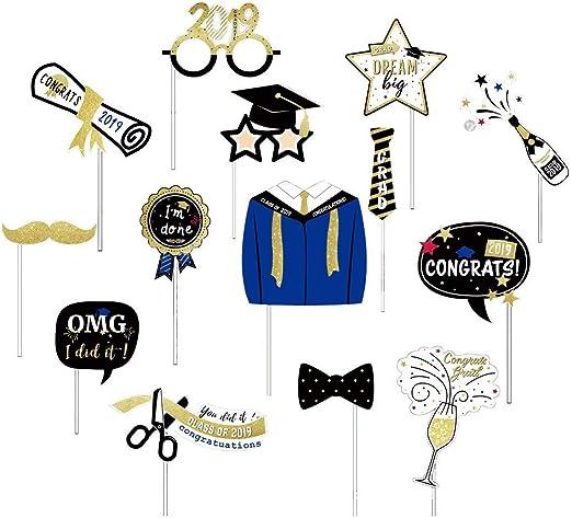 2019 Accesorios para cabina de fotos de graduación, decoraciones ...