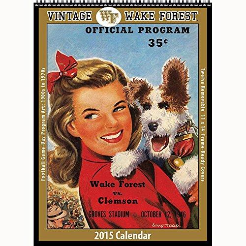 Wake Forest Demon Deacons Football 2015 Vintage Poster Calendar (Wake Forest Calendar)