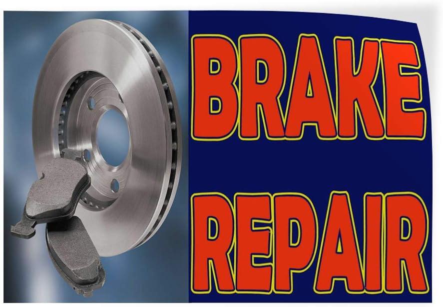 Decal Sticker Multiple Sizes Brake Repair Blue Orange Grey Automotive Car Outdoor Store Sign Blue Set of 5 27inx18in