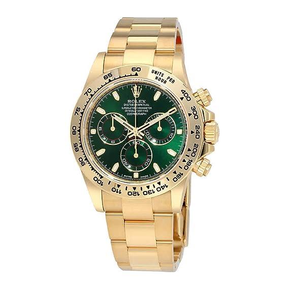 Rolex Cosmograph Daytona Verde Dial 18 K Amarillo Oro Ostra Mens Reloj 116508 grso