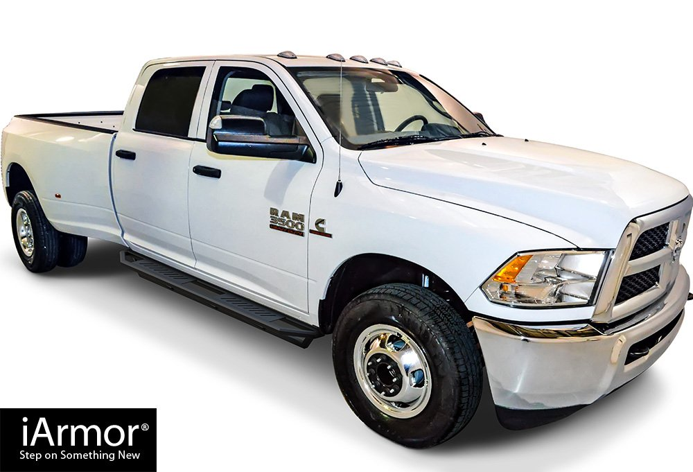 304 Stainless Steel Running Boards Nerf Bars Side Steps Step Rails Compatible with 2009-2018 Ram 1500 Crew Cab Pickup 4Dr /& 2010-2019 Ram 2500 3500 APS iBoard Black 5 inches