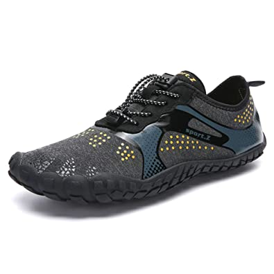 630887aa5da8 XIDISO Womens Mens Minimalist Trail Runners Barefoot Outdoor Cross Training  Hiking Shoes Black