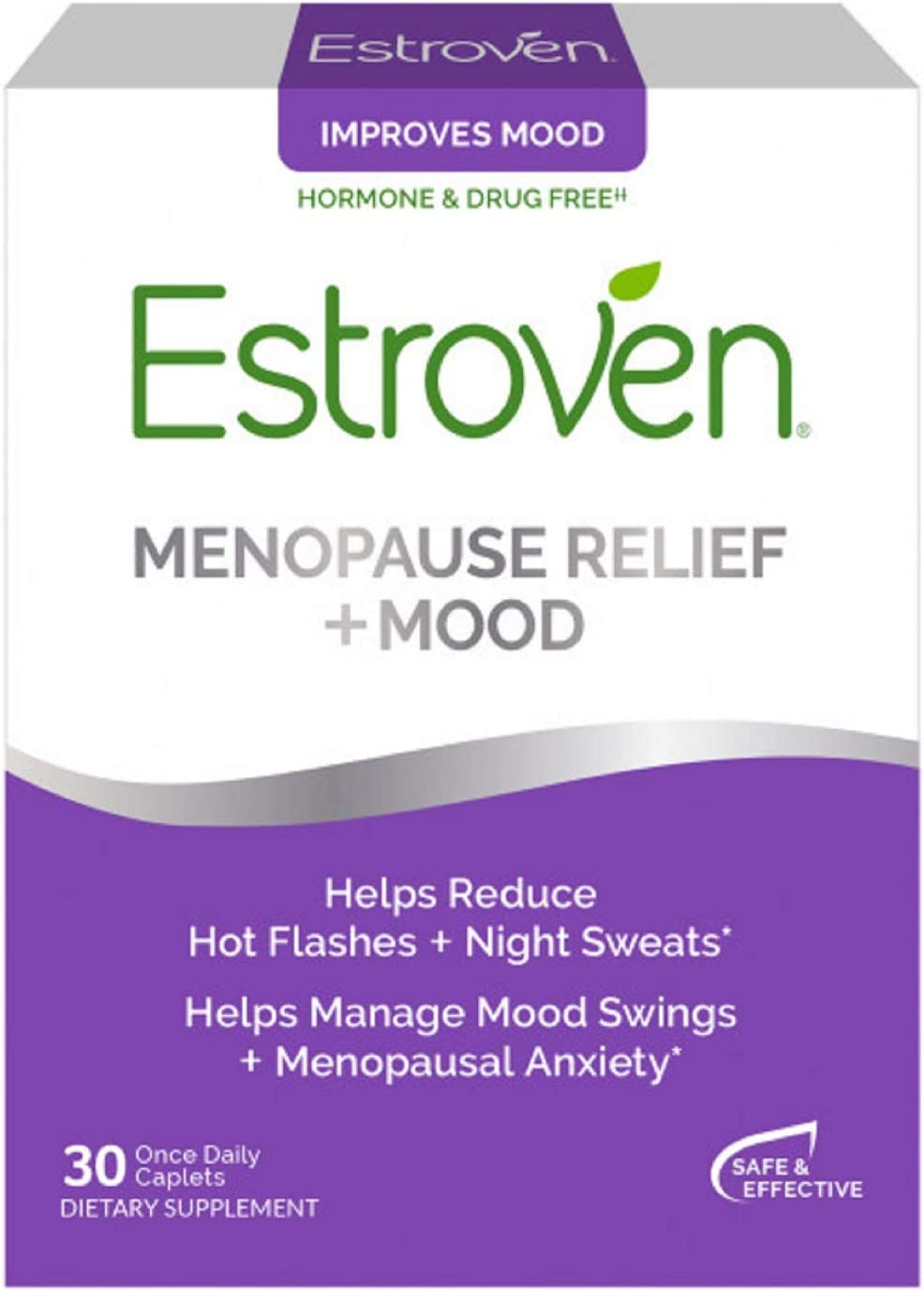 Estroven Menopause Relief + Mood 30-Pills For Hot Flashes ...