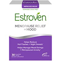 Estroven Menopause Relief + Mood Once-Daily Supplement - Helps Reduce Hot Flashes & Night Sweats - Helps Manage Mood Swings & Menopausal Anxiety - 30 Caplets