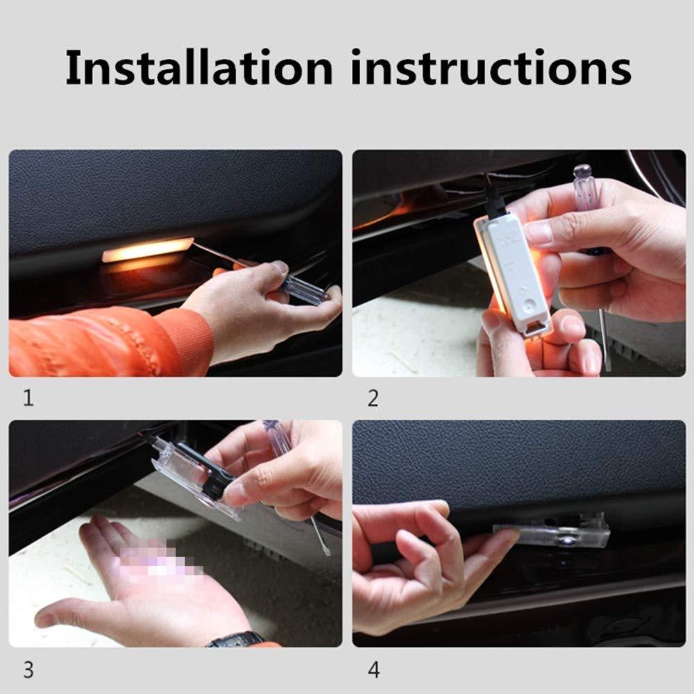 Citroen ZHANGNA Easy Installation Car Shadow Light,Car Door LED Logo Projector Ghost Shadow Lights,Welcome Door Logo Light with 2pcs