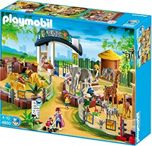 playmobil large zoo with entrance toys games. Black Bedroom Furniture Sets. Home Design Ideas