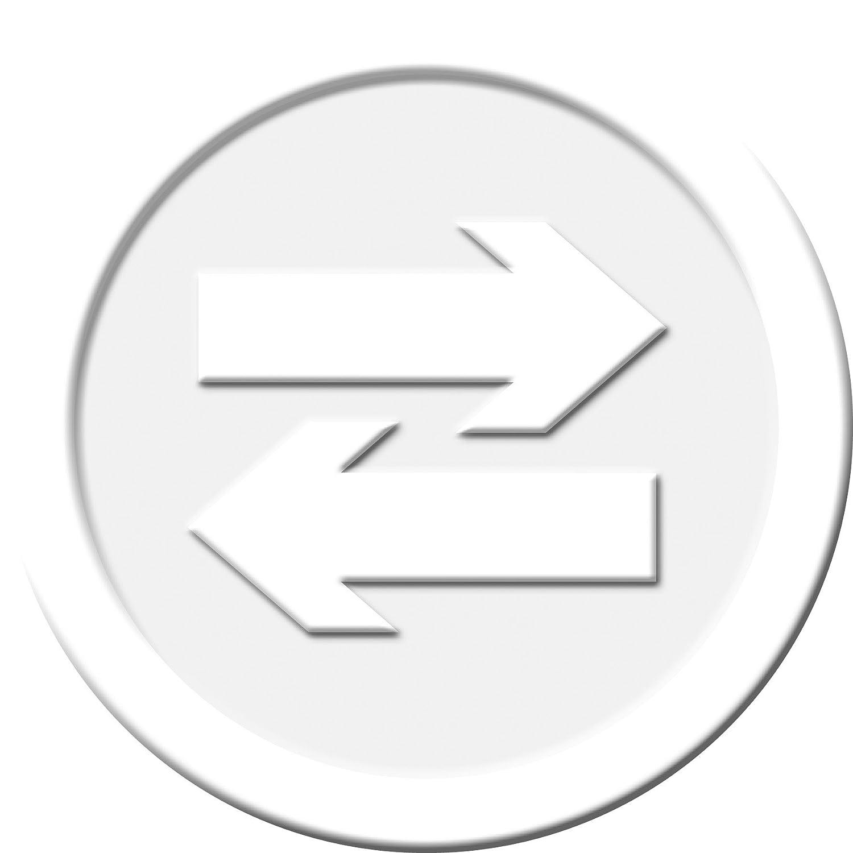 bianco SIGEL WM010 Contromarche Caparra di plastica /Ø 25 mm motivo a rilievo sul davanti e letteraP sul retro 100 pz.