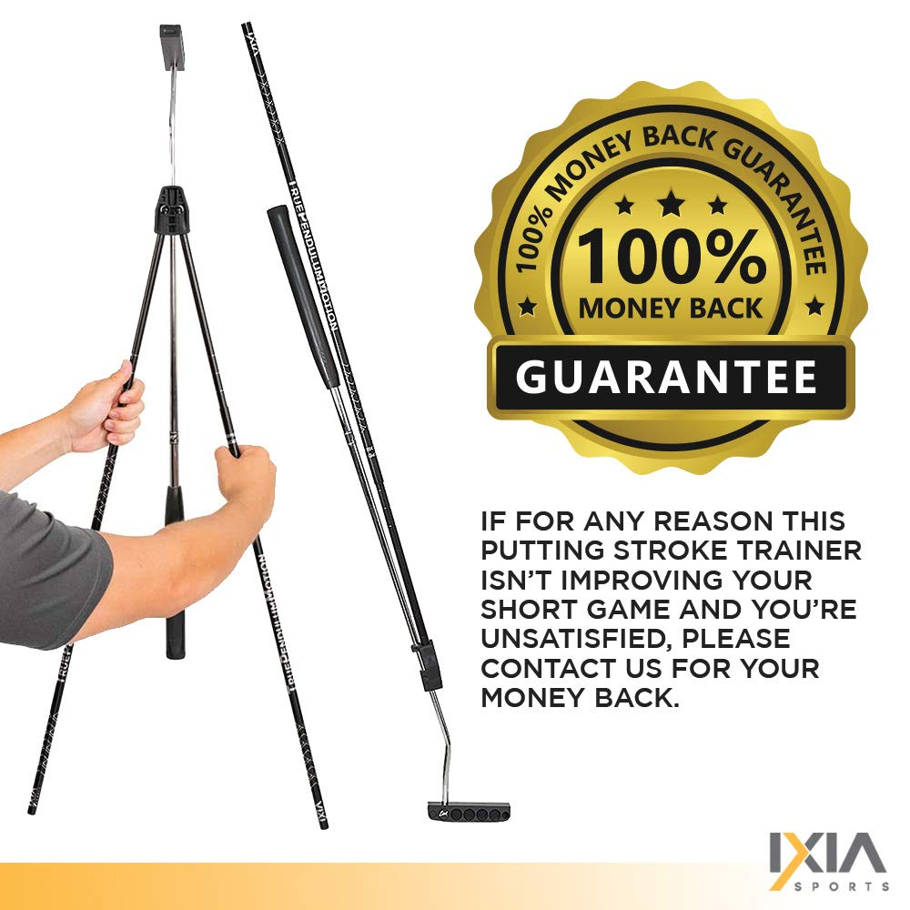 IXIA Sports True Pendulum Motion Golf Putting Trainer - Fits Any Putter - Detachable, Adjustable Length Alignment Rods - Promotes Perfect Posture - For ALL Levels, Juniors & Adult by IXIA Sports (Image #7)