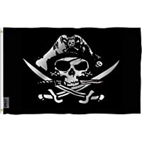 ANLEY [Fly Breeze] 3x5 Foot Dead Man's Chest Flag - Vivid Color and UV Fade Resistant - Canvas Header and Double Stitched - Pirate Flags Polyester with Brass Grommets 3 X 5 Ft