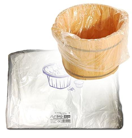 PediBAG · Bolsa de plástico especial pedicura para la protección de pediluvio o bañera paq.