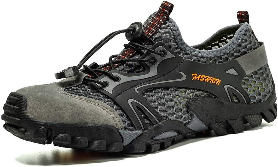 Zapatillas de Senderismo Transpirables y ultradeslizantes para Hombres Zapatillas de Trekking Descalzas de Malla Zapatillas de Deporte al Aire Libre Ligeras de Secado rápido: Amazon.es: Zapatos y complementos