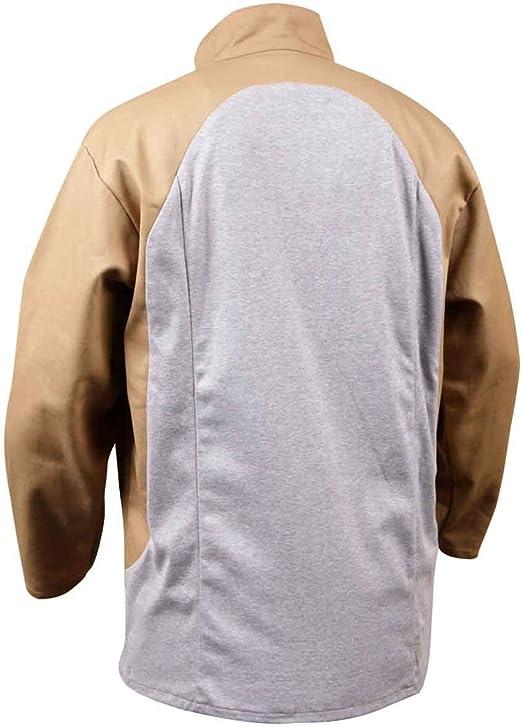 Black Stallion JF1625-TG Stretch-Back FR Cotton Welding Jacket Tan X-Large