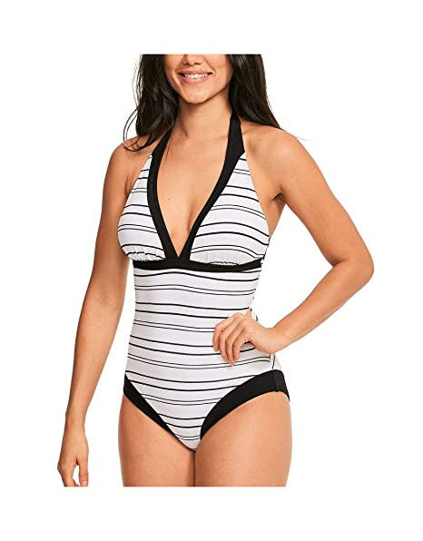 Figleaves Womens Stripe Underwired Tankini Top
