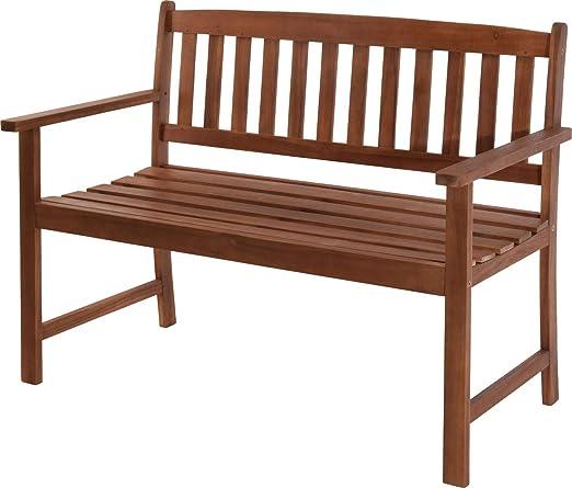 made2trade Monza - Banco de jardín (para 2 personas, madera de acacia FSC, 110 cm): Amazon.es: Jardín