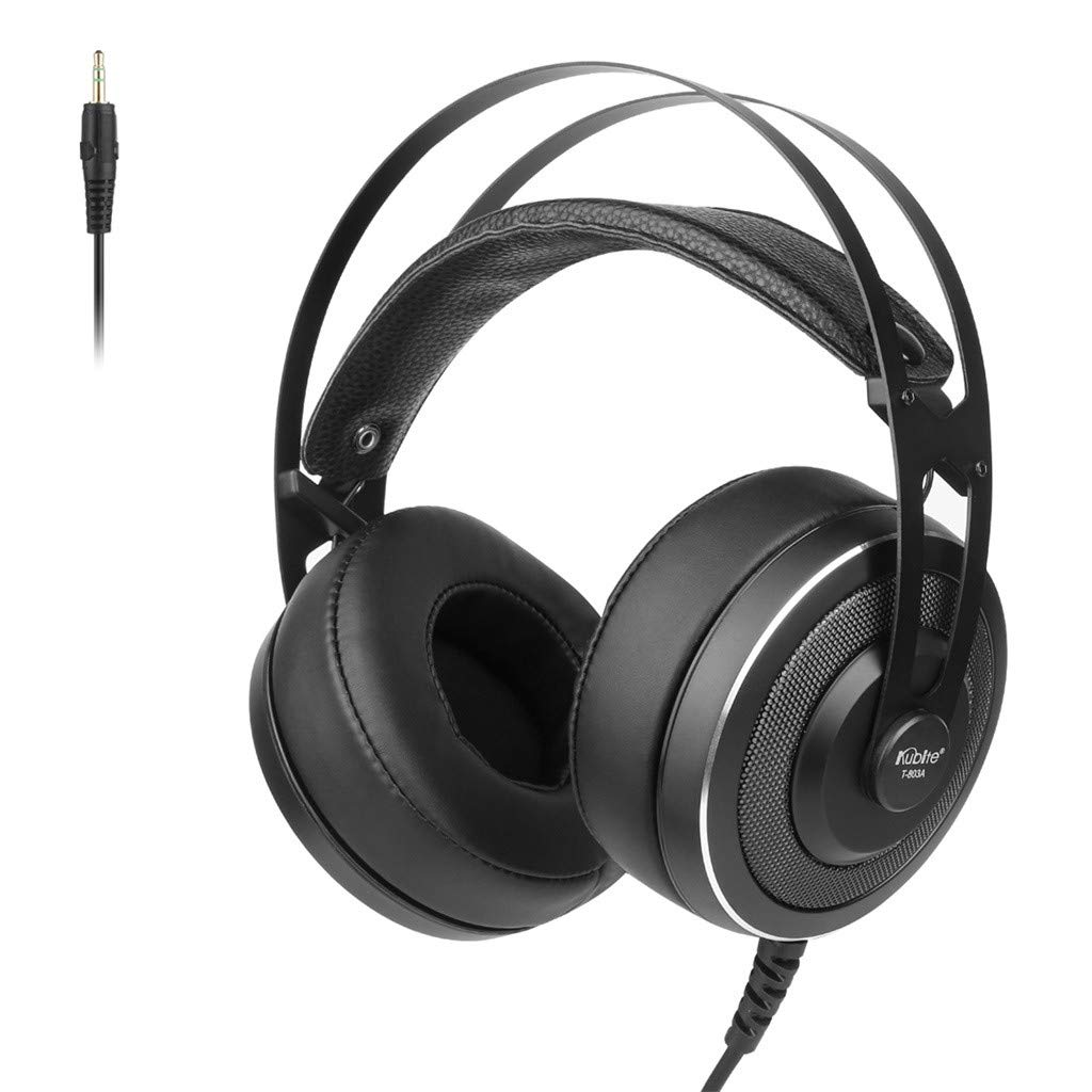 Kuerqi Kubite T 803A Wired Surround Sound Gaming Headphones with Microphone Earphone for Pubg Game Music (Black) by Kuerqi