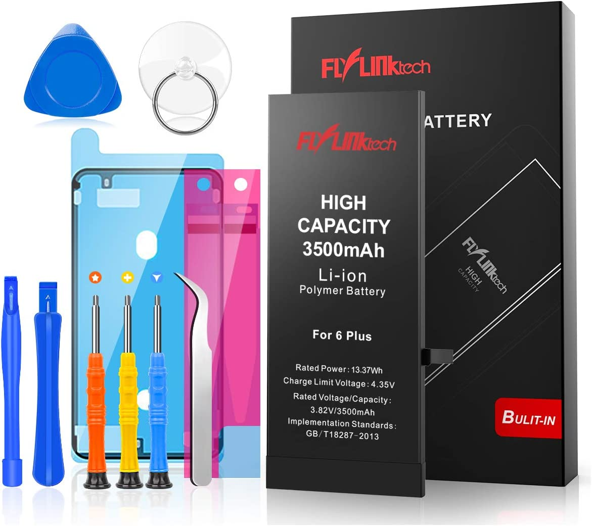 Flylinktech for iPhone 6 Plus Battery Replacement, 3500mAh High Capacity Li-ion Battery with Repair Tool Kit-Included 24 Months Assurance: Home Audio & Theater