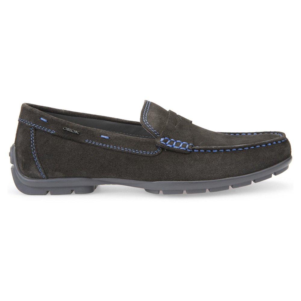 Mocasines para hombre, color gris , marca GEOX, modelo Mocasines Para Hombre GEOX U MONER W 2FIT Gris: Amazon.es: Zapatos y complementos