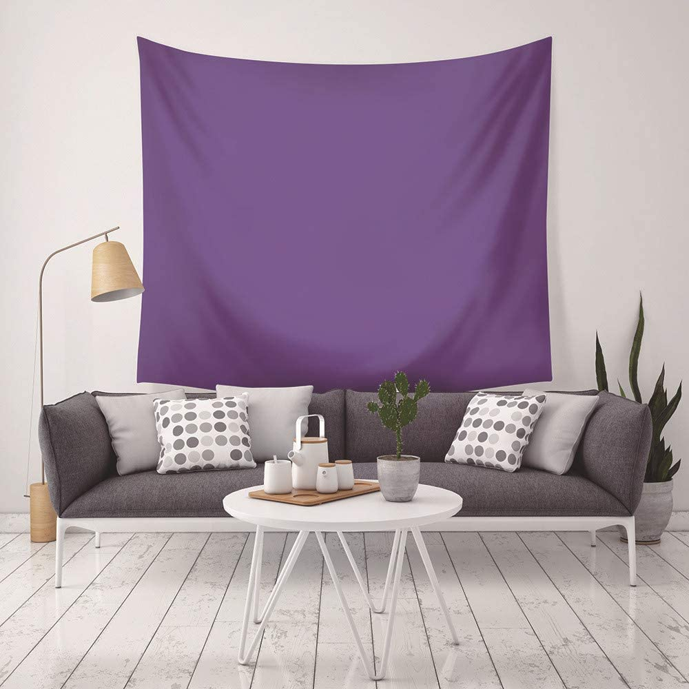 LLWWRR1 Purple Print Solid Color Home Decor Tapestry Wall Hanging Beach Mat Polyester Thin Blanket Yoga Shawl Mat-200x150cm