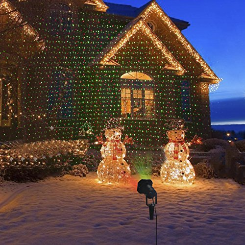 Christmas Laser Projector Light with Timer,Greenclick Outdoor Landscape Laser...