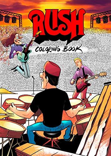 RUSH Coloring Book por David Calcano